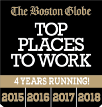The Boston Globe Top Places To Work 4 Years Running 2015 - 2018